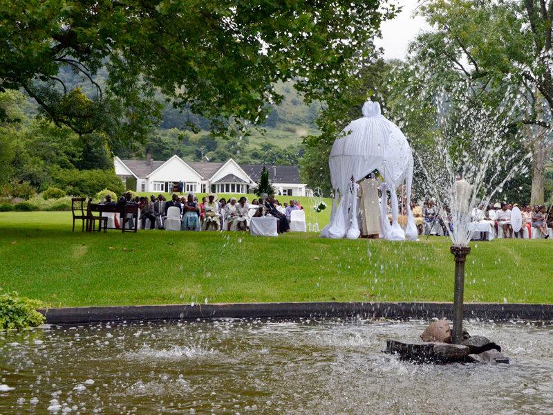 Lythwood garden wedding