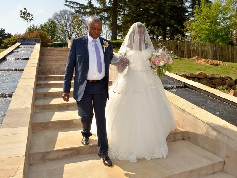 Lythwood weddings - Steps to Avellini Tent